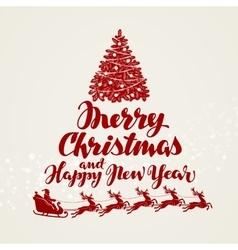 Christmas greeting card Beautiful handwritten vector image vector image