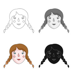 daughter icon in cartoon style isolated on white vector image vector image