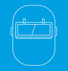 Gas cylinder icon outline vector