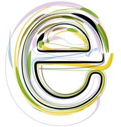 Organic Font letter e vector image vector image