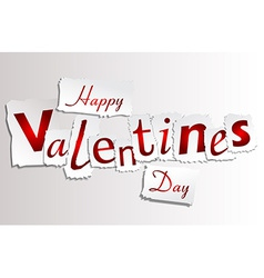 Paper Valentines Day vector image vector image