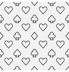 Poker line pattern vector