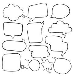 speak cloud bubbles set vector image vector image