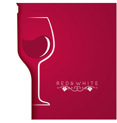 wine glass logo menu design background vector image