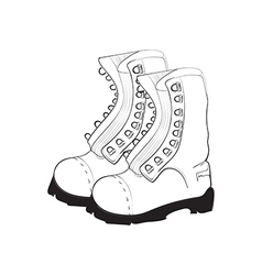 hand drawn doodle boots vector image vector image