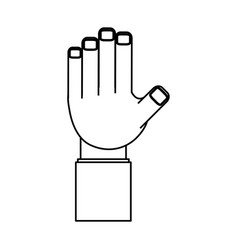 isolated web hand connection vector image
