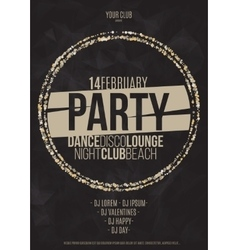 Lounge bar party poster background with vector image