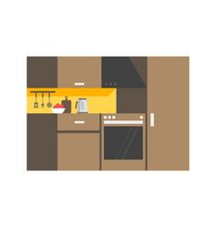 modern kitchen interior design icon vector image
