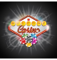 on a casino theme with playing board vector image vector image