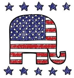 American republican vector image vector image