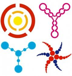 circle logos vector image vector image