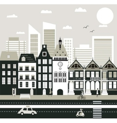 City life vector image
