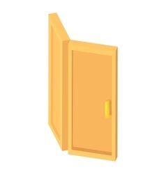 Door icon cartoon style vector image