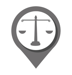 Law and order Round icon graphic vector image vector image