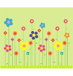 Stylish flower background vector image vector image