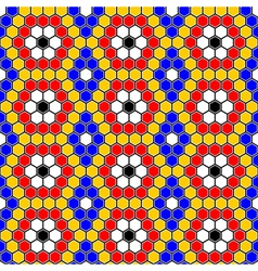Design seamless colorful mosaic hexagon pattern vector image