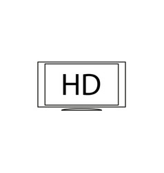 hd monitor icon vector image