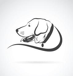 image of an dog labrador head vector image vector image