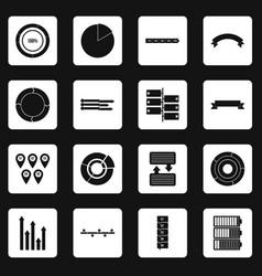 infographic design parts icons set squares vector image
