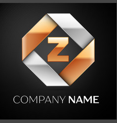 letter z logo symbol in the colorful rhombus on vector image vector image