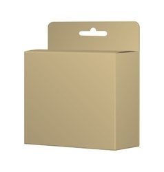 Realistic Recycled Card Product Package Box Mockup vector image vector image