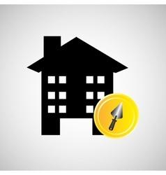 remodel construction building spatula icon vector image
