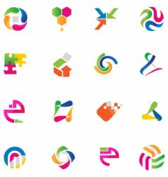 Set of abstract design elements vector