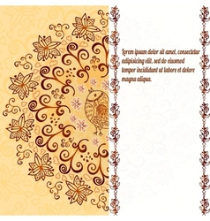 Vintage chocolate and cream ornament background vector image vector image