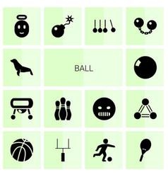 14 ball icons vector