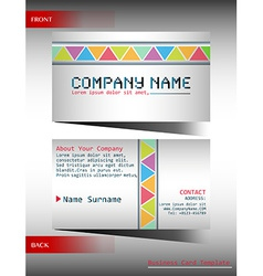 A multi-colored business card vector image