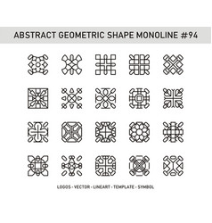 Abstract geometric shape monoline 94 vector