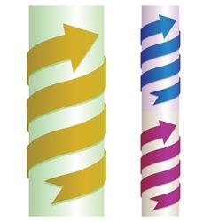 Arrow on pillar vector