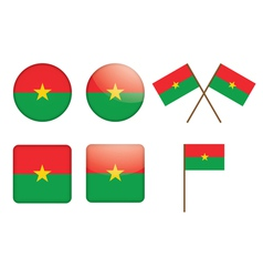 badges with flag of Burkina Faso vector image