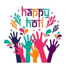 banner design happy holi celebration card vector image