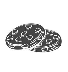 Biscuit glyph icon badge vector