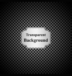 Black and grey transparent background with silver vector