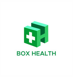 box health logo vector image