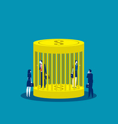 Business people and money trap concept vector
