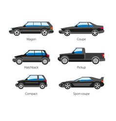 car automobile body type names flat vector image