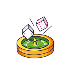 Casino roulette game with dices vector