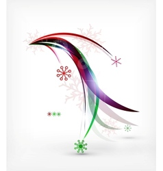 Christmas wave lines lights winter cards vector image