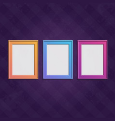 colored frames set vector image