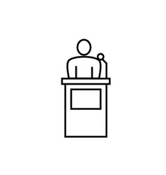 conference speech icon vector image