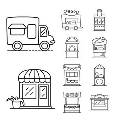 Design vending and public symbol vector