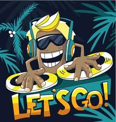 DJ music vector image