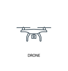 drone concept line icon simple element vector image