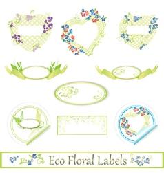 eco floral label set vector image