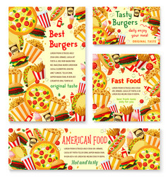 fast food restaurant menu posters vector image