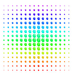 fist icon halftone spectrum pattern vector image
