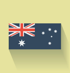 Flat flag of Australia vector image